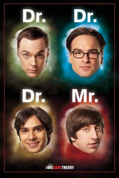 THE BIG BANG THEORY - dr / mr Плакат