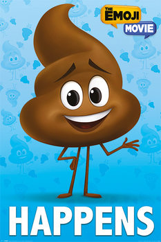 The Emoji Movie - Poop Happens Плакат