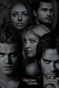 The Vampire Diaries - Faces Плакат