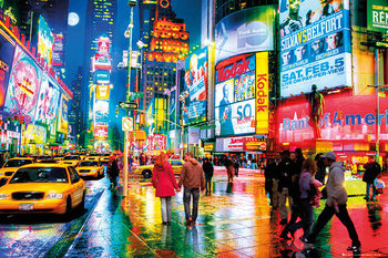 Times Square - Rush Hour Плакат