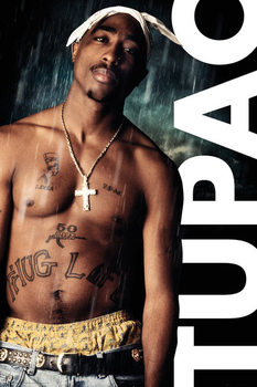 Tupac - Rain Плакат