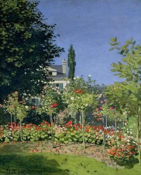 Платно Flowering Garden at Sainte-Adresse, c.1866
