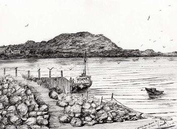 Платно Iona from Mull Scotland, 2007,