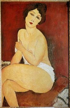 Платно Naked Woman Seated