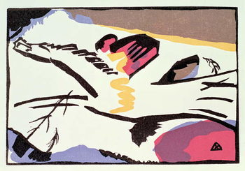 Платно Horse, from 'Der Blaue Reiter', 1911