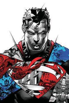 Принти на полотні Superman - Split