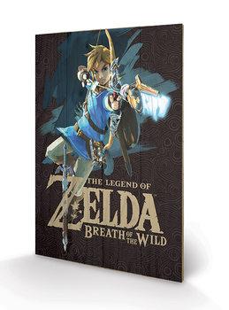 The Legend of Zelda: Breath of the Wild - Game Cover Принт по дереві