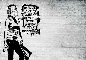 Banksy Graffiti Фотошпалери