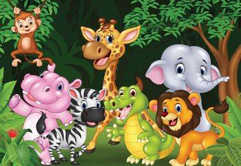 Cartoon Animals Фотошпалери