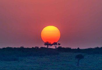 Equatorial Sunset Фотошпалери