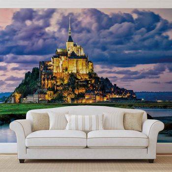 France Mont Saint Michel Фотошпалери