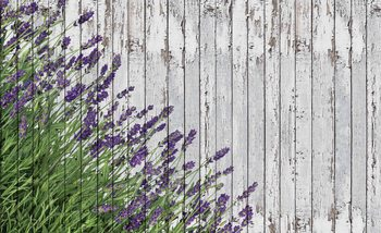 Lavendar Wood Planks Фотошпалери
