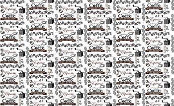Vzor kávy, nápisy Coffee Фотошпалери