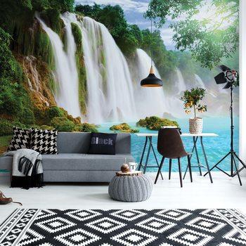 Waterfall Lake Фотошпалери