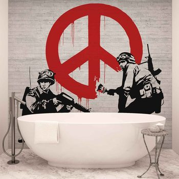 Banksy Graffiti фототапет