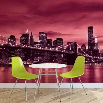 City Brooklyn Bridge New York City фототапет