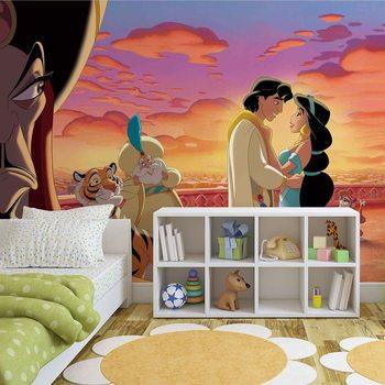 Disney Princesses Jasmine Aladdin фототапет