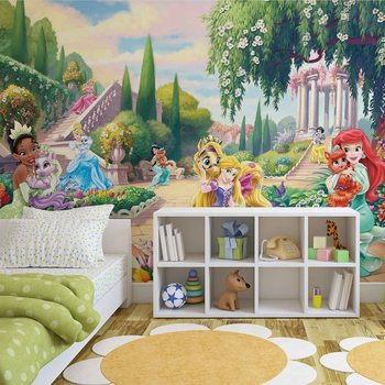 Disney Princesses Tiana Ariel Aurora фототапет