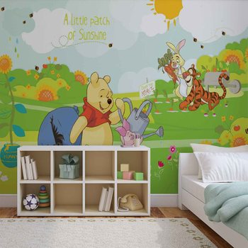 Disney Winnie Pooh Eeyore Piglet Tigger фототапет