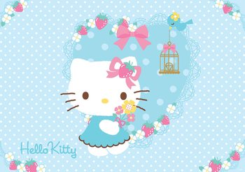 Hello Kitty фототапет