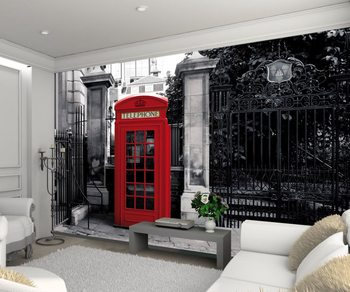 London - Red Telephone Box фототапет