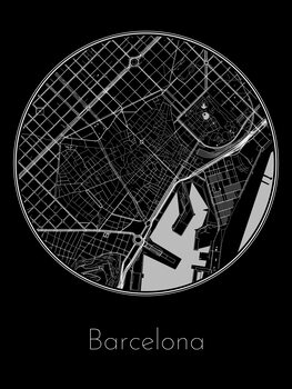 Map of Barcelona фототапет