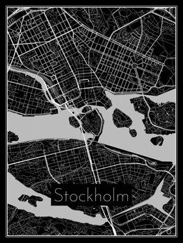 Map of Stockholm фототапет