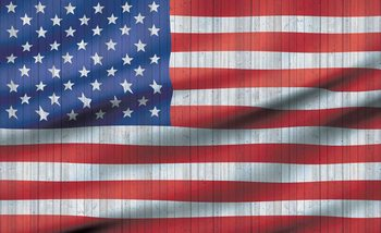 USA American Flag фототапет