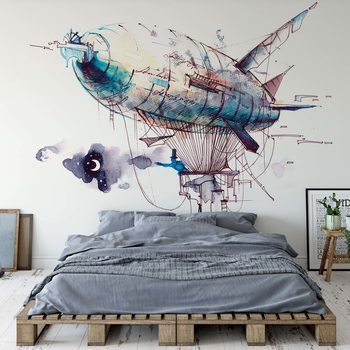 Watercolour Airship фототапет