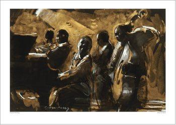 Charlie Mackesy - Blues On Gold Художествено Изкуство