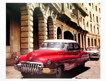 Cuban Cars I Художествено Изкуство
