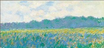 Field of Yellow Irises at Giverny Художествено Изкуство