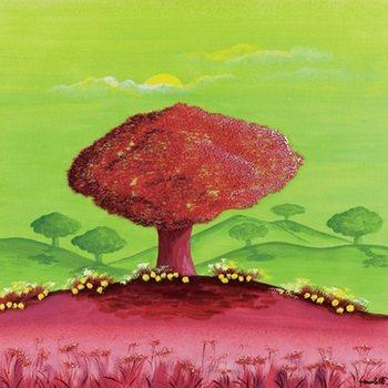 Green Sunset Художествено Изкуство
