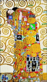 Gustav Klimt - Abbraccio Художествено Изкуство