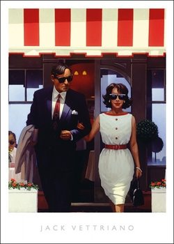 Jack Vettriano - Lunch Time Lovers Художествено Изкуство