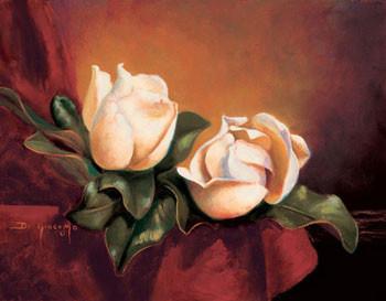 Magnolia Vignette ll Художествено Изкуство