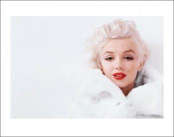 Marilyn Monroe - White Художествено Изкуство