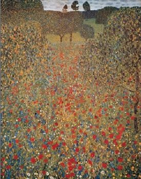 Meadow With Poppies Художествено Изкуство
