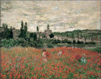 Poppy Field Near Vetheuil Художествено Изкуство