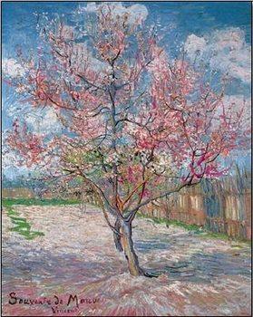 Souvenir de Mauve - Pink Peach Tree in Blossom, 1888 Художествено Изкуство
