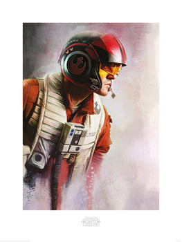 Star Wars The Last Jedi - Poe Paint Художествено Изкуство