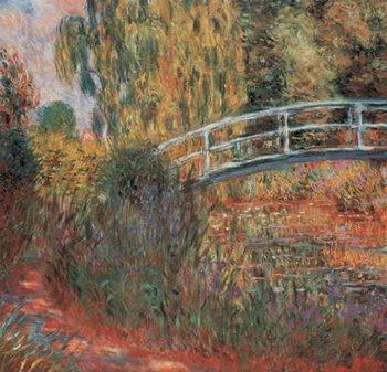 The Japanese Bridge - The Japanese Footbridge, 1899 Художествено Изкуство