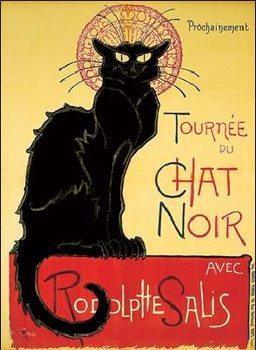 Tournée de Chat Noir - Black Cat Художествено Изкуство
