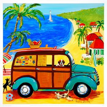 Woody at the Beach Художествено Изкуство