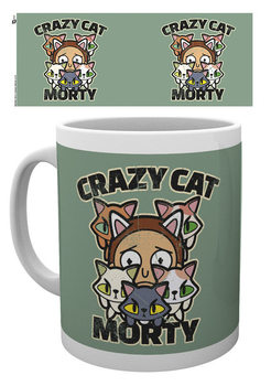 Rick And Morty - Crazy Cat Morty Чаши
