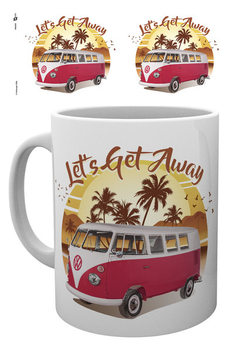 VW Camper - Lets Get Away Sunset Чашка