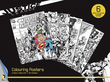 Плакати за оцветяване DC Comics - Justice League