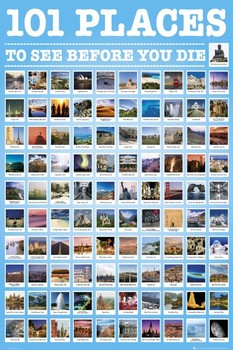 101 Places to see плакат