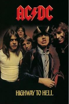 AC/DC - highway to hell плакат