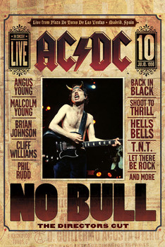 AC/DC - no bull плакат